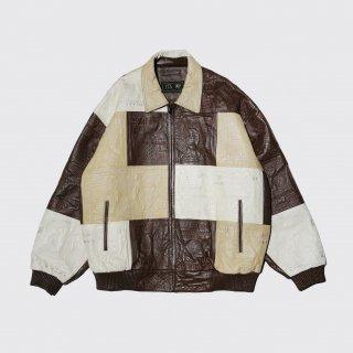 old money oversized leather jacket