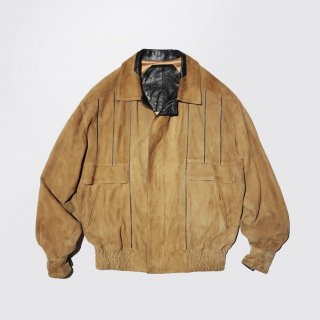 old leather combi suede jacket
