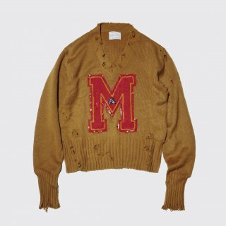 boro vintage lettered sweater
