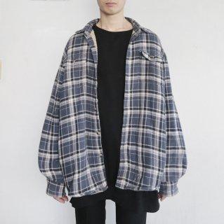 old Wrangler boa/check oversized jacket