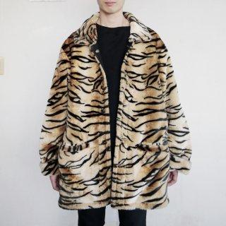 old faux fur/denim reversible jacket