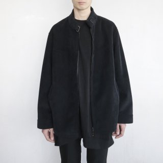 old corduroy/faux fur belted jacket