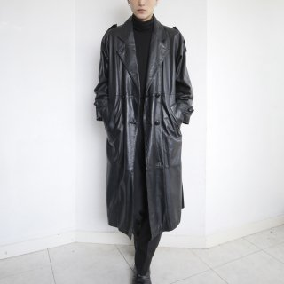 old leather trench coat