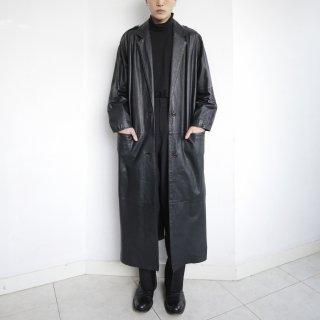 old 2b single leather coat