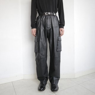 old leather cargo trousers