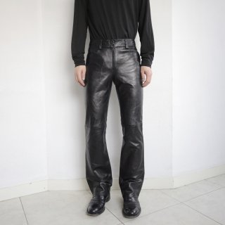 old flared leather trousers