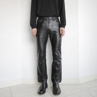 old straight 5p leather trousers