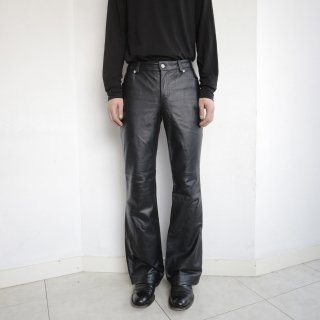old flared 5p leather trousers