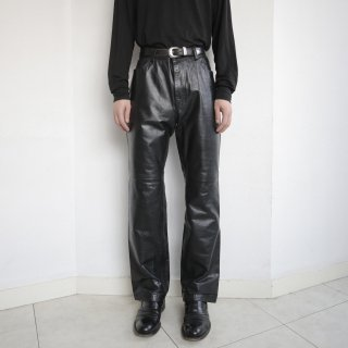 old gap flared leather trousers