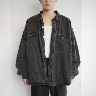 old denim/quilting loose shirt