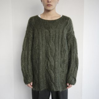 old cable mohair sweater