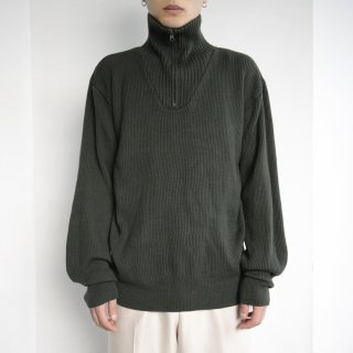 old zipped rib sweater