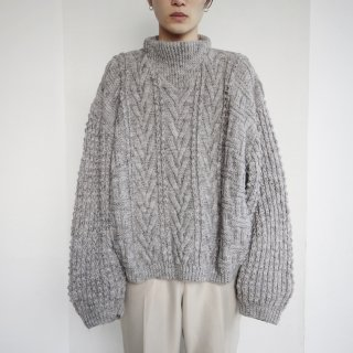 old bottle neck heavy gauze alan sweater