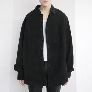 old loose suede leather shirt