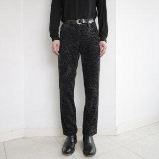 old ralph lauren leopard corduroy trousers