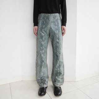 old faux python leather trousers