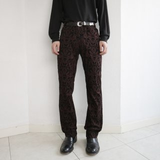 old flock damask trousers