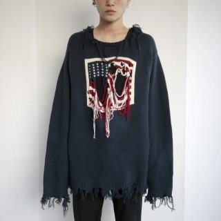 boro custom flag sweater