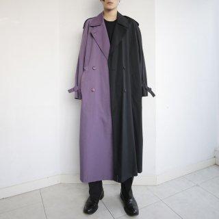 remake half&half trench coat