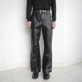 old flare leather trousers