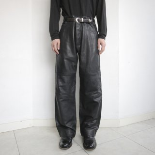 old 5p wide leather trousers