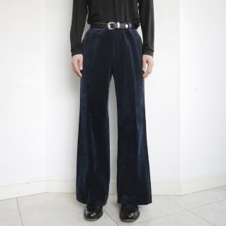 vintage wide velvet trousers