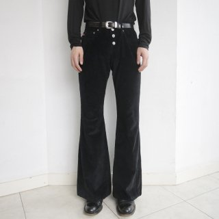 old velvet flare trousers