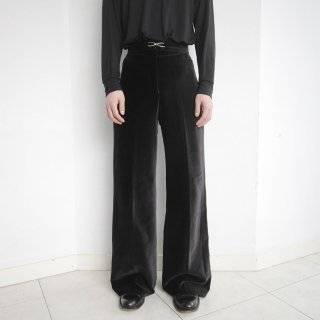 old velour wide trousers