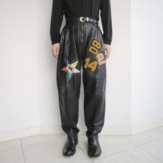 old custom leather trousers