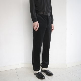 remake layered velvet tuxedo slacks