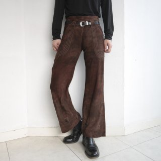 old euro suede trousers