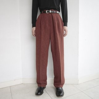 old 1tuck tappered trousers
