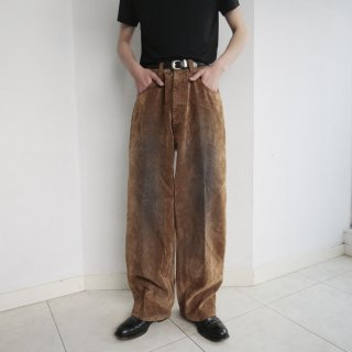 old flocked buggy trousers