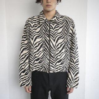 old zebra short gobelin jacket