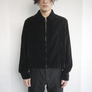 old velvet short zipped jacket