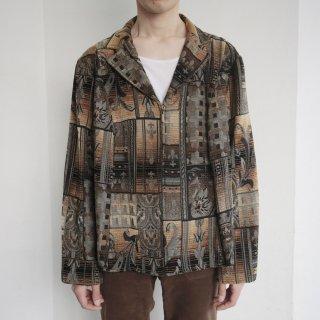 old jacquard zipped jacket