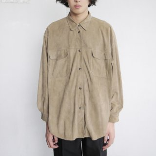 old snap suede shirt