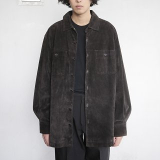 old loose suede shirt