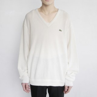 old LACOSTE v loose acrylic sweater