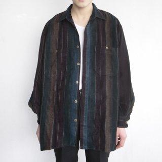 old stripe flannel shirt