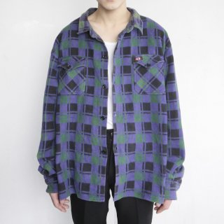 old loose tone on tone check shirt