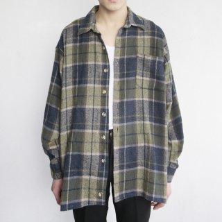 old loose madras check shirt