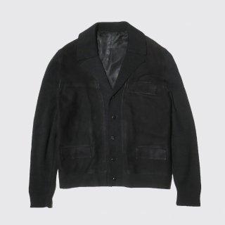 vintage broderie suede combi jacket