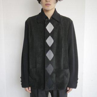 old rhombus suede combi jacket