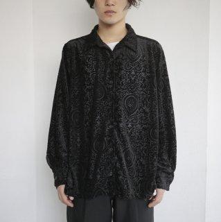 old damask pattern flocked shirt