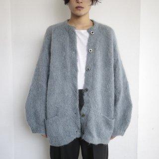 old loose mohair cardigan