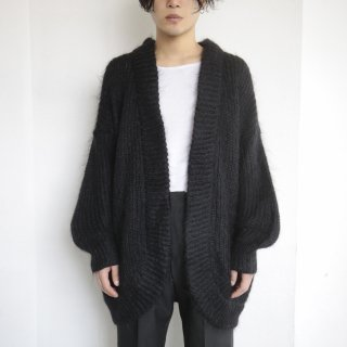 old rounded mohair cardigan