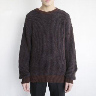 old waffle sweater