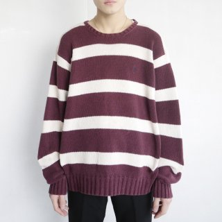 old polo border sweater