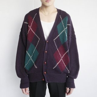 old argyle cardigan